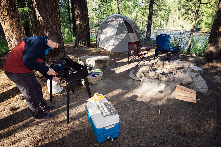 Camping Tent (campsite scene)