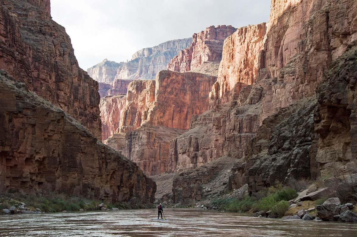 Grand Canyon rafting (SUP in canyon)