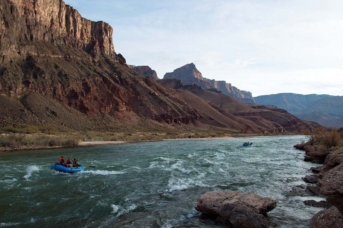 Grand Canyon rafting (small rapids)