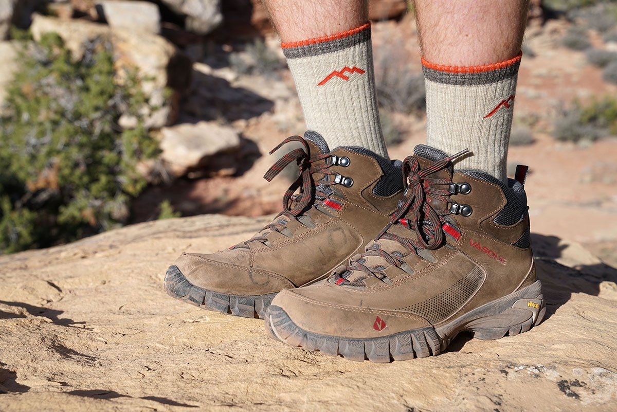 HIking sock (crew height with boots)