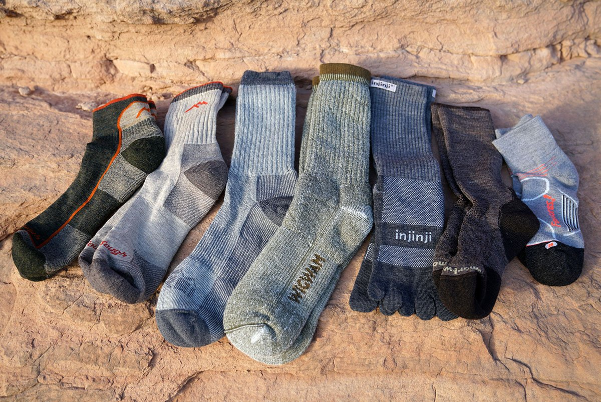Hiking socks (group shot)