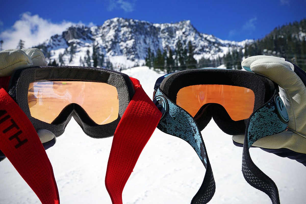 Ski goggles (light vs. dark)