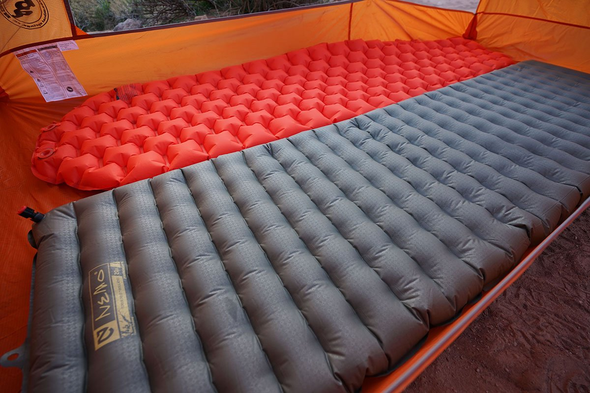 Sleeping pad baffle and thickness differences