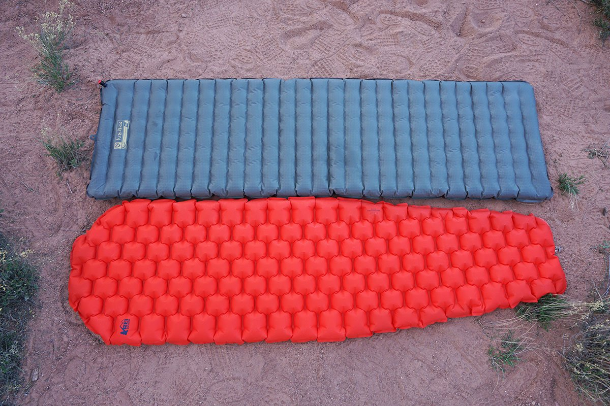 Sleeping pad shape difference