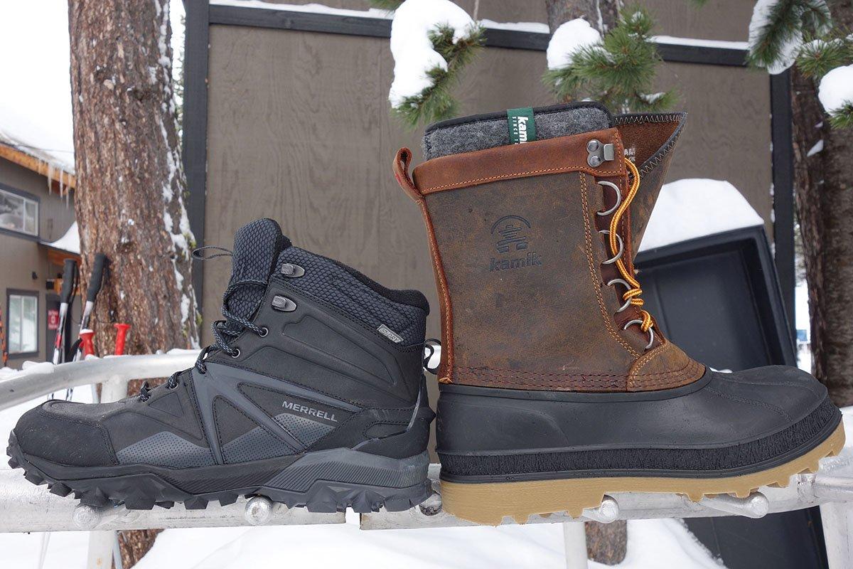 Winter Boot Height Comparison